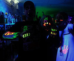 UV Face and Body Paint used at a Night Club
