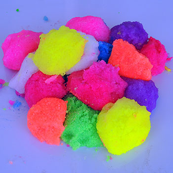 some of the colours of Neon Instant Snow